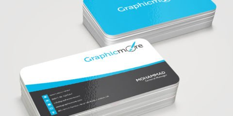 Flowy Creative Business Card Template & Mockup Design Free PSD File