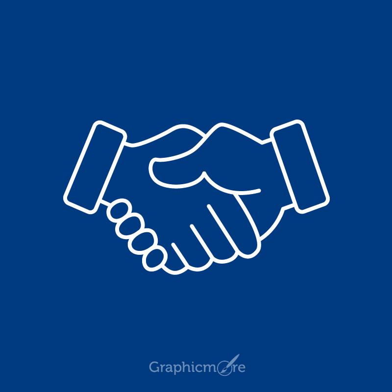 Handshake Icon Design Free Vector File