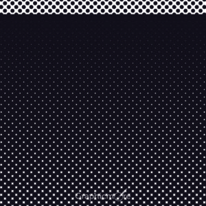 Dotted Seamless Black and White Free Vector Pattern Design