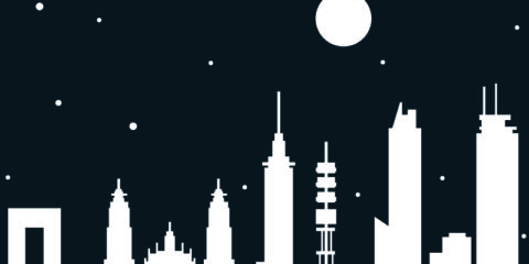 Mexico City Skyline At Night Free Vector File Design