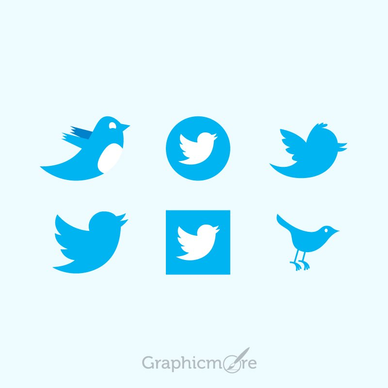Various Twitter Icons Design Free Vector File