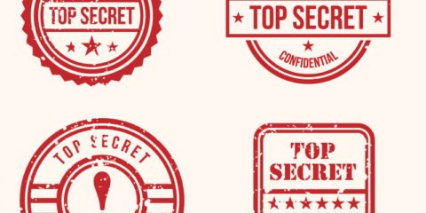 Top Secret Stamps Design Free Vector File