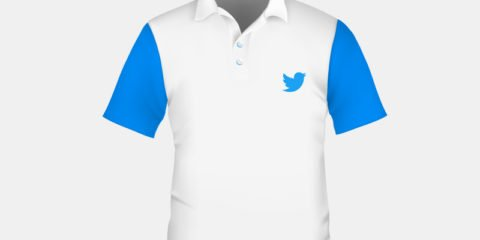 Twitter Company T Shirt Front Side Design Free Vector File