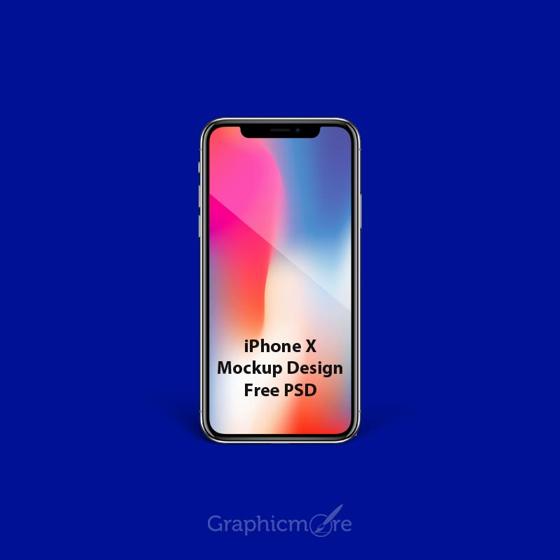 iPhone X Mockup Template Design Free PSD Download