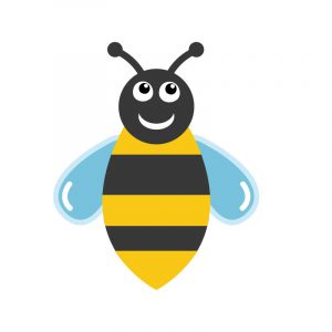 Bee Emoticon Icon Design Free Vector File Download