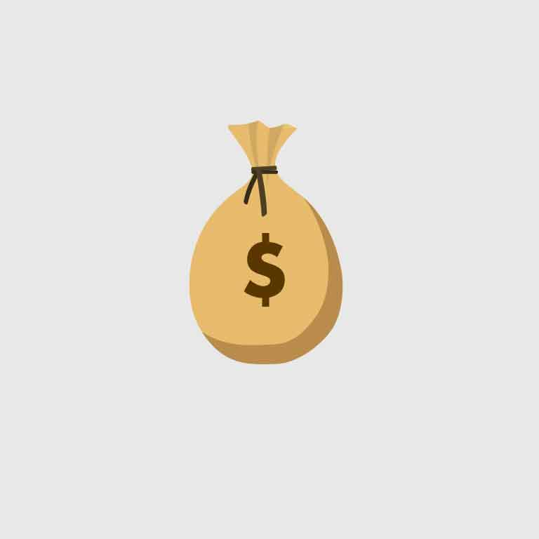 Bag of Money Icon Design Free Vector Download