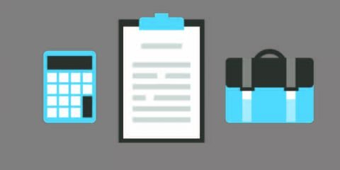 Calculator, Notepad and Briefcase Mockup Icon Template Design Free Vector