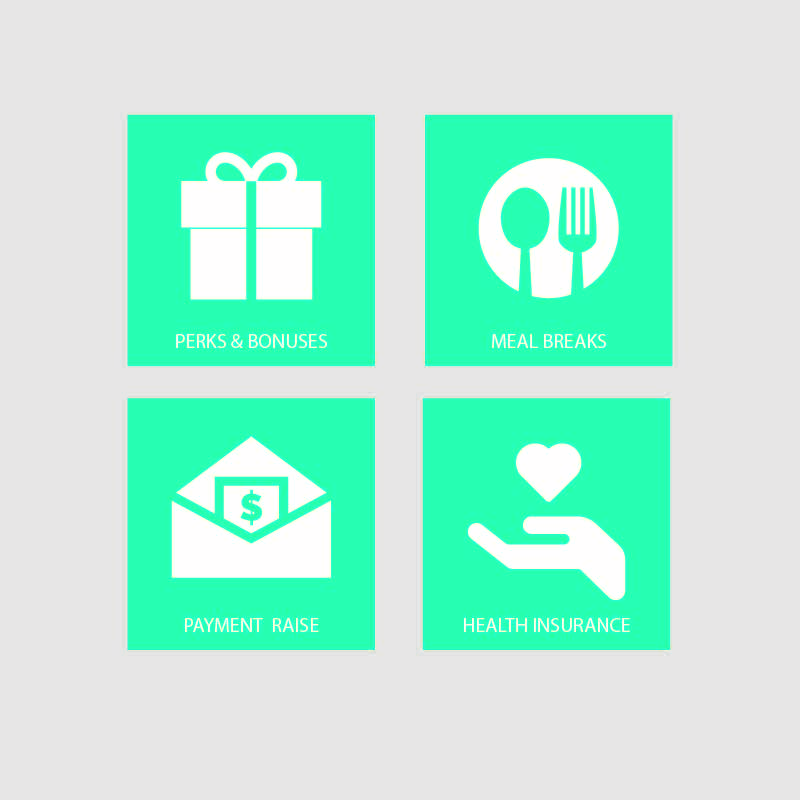 Employment 4 Benefits Icon Collection Design Vector Download