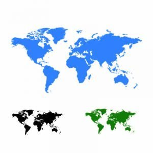 Free World Map Blue Vector Template Download
