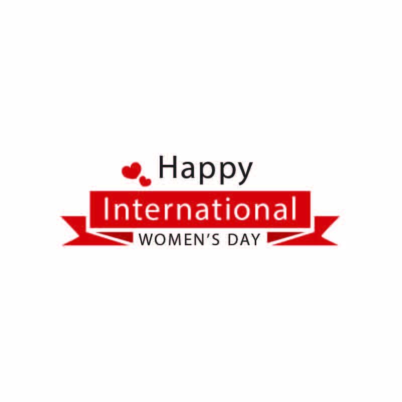 Happy International Womans Day Logo Design Vector Download