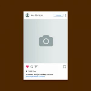 Instagram UI Screen Template Design Free Vector Download