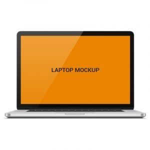 Laptop Mock Up Template Design Free PSD Download