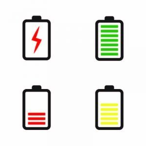 Phone Battery Icon Collection Design Vector Free Download