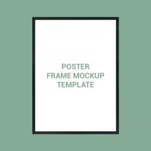 Poster Frame Mockup Template Design Free PSD Download