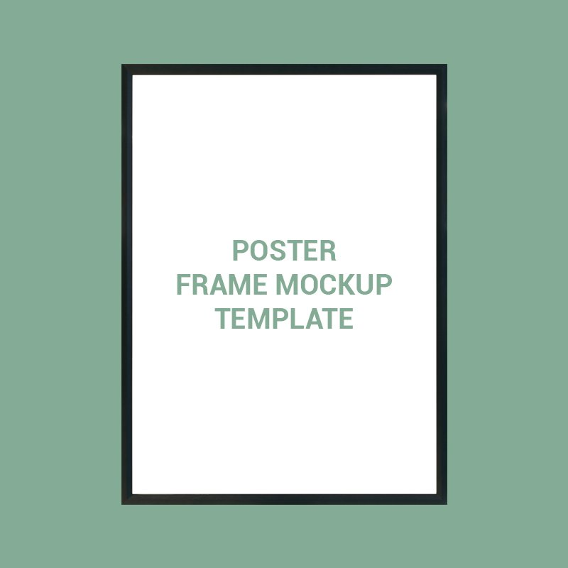 Poster Frame Mockup Template Design Free PSD Download