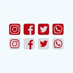 Red Social Media Icons Collection Free Vector Download