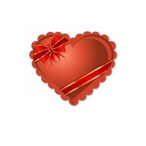 Romantic Heart Shaped Gift Box Packaging Vector Free Download