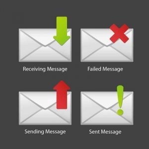 SMS icon Collection Design Free Vector Download