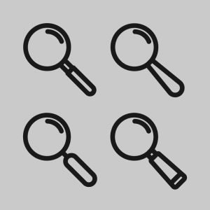 Search Icon Set Collection Design Free Vector Download
