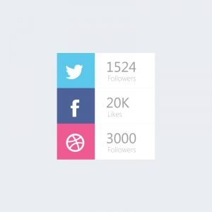 Social Media Followers Counter Design Free PSD Download