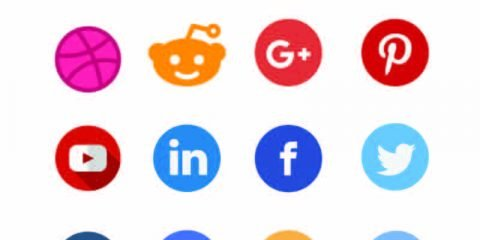 Top 14 Social Media Vector Icon Set Design Download