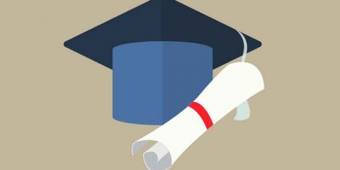 University Student Cap Mortar Board and Diploma Free Vector Download