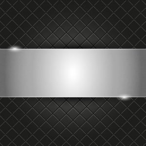 Metal Plate on Black Background Design