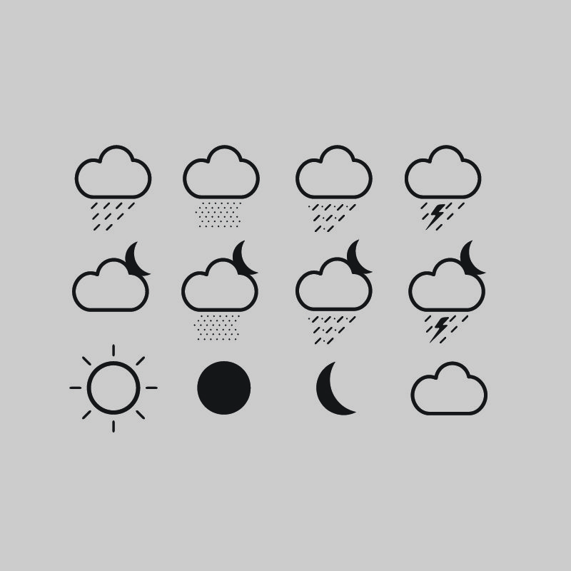 12 Free Cloud Weather Icons Vector Collection