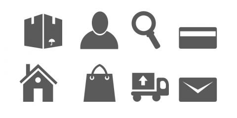 16 Minimal Ecommerce Icons Free PSD Design Download