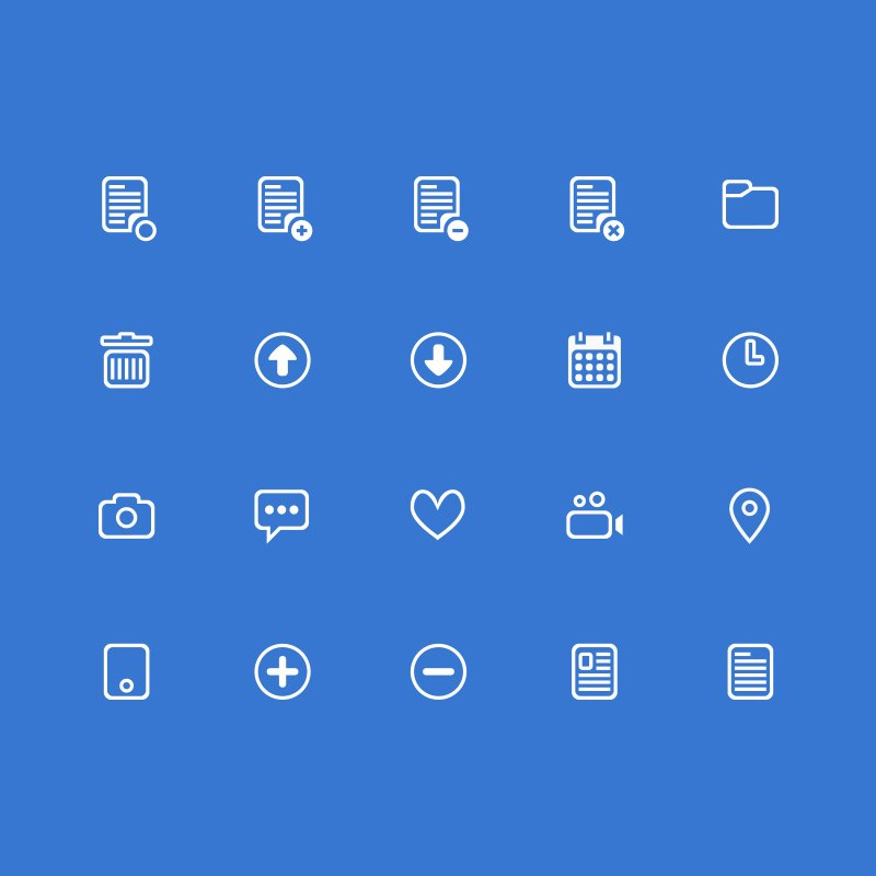 20 Free Clean Business PSD Icons Design Download