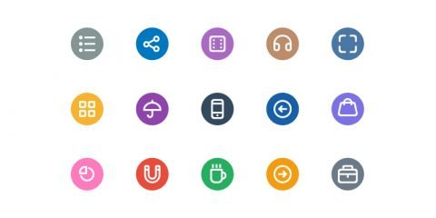 25 Free Flat Icons PSD Design for App and Website