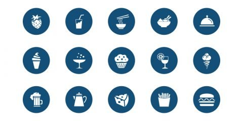 25 Free Food Icon Collection Design PSD Download