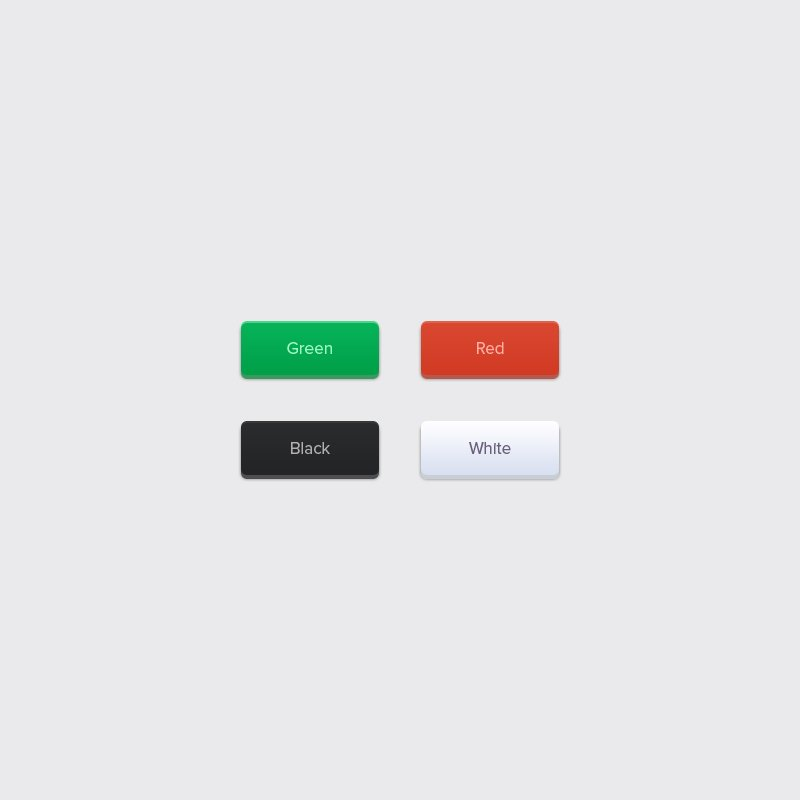 4 Free Rounded Buttons PSD Design For Website
