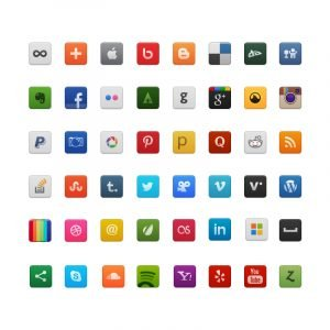 48 Free Social Media PSD Icons Design Collection