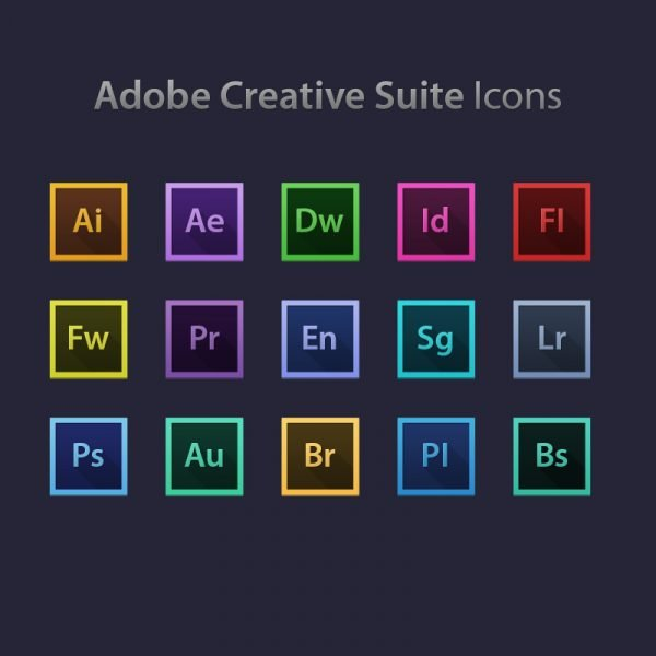 Adobe Creative Suite Icons Design PSD Free Download