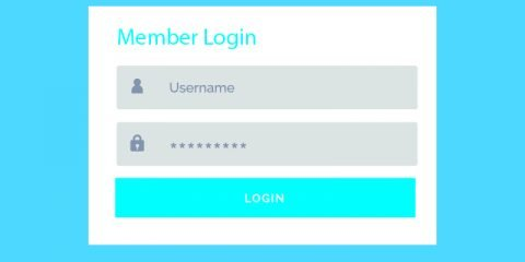 Blue Login Form UI Design For Website And Application