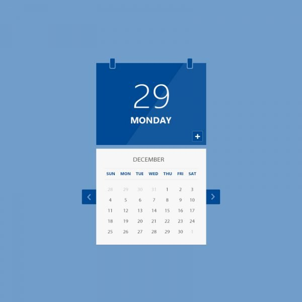 Calendar UI PSD Design Free Download By GraphicMore