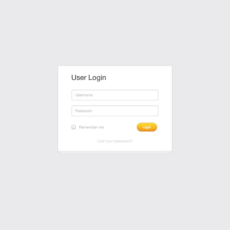 Clean User Login Form PSD Template Design Free Download
