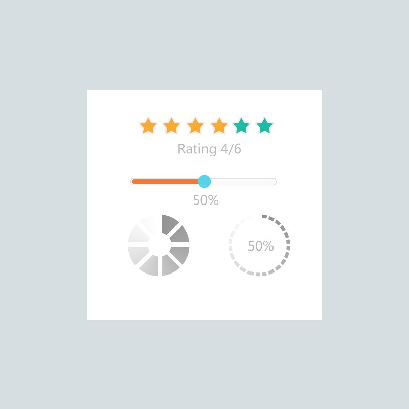 Client Rating Templates Set Element Design Free PSD Download