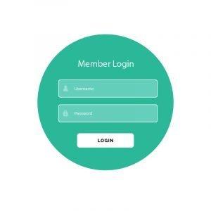 Creative Login Form UI Template Vector Design