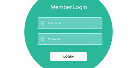 Creative Login Form UI Template Vector Design