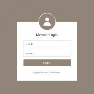 Creative Member Login Form UI Template Design Free Vector Download