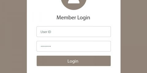 Creative Member Login Form UI Template Design Free Vector Download