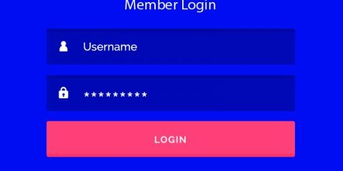 Login Template UI with Blue Background Design Free Vector