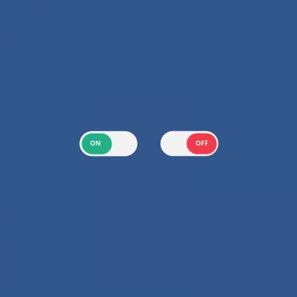 On Off Switch Button PSD Template Design for App & Website
