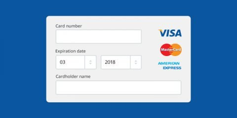Online Payment Form Mockup Template Design Free PSD