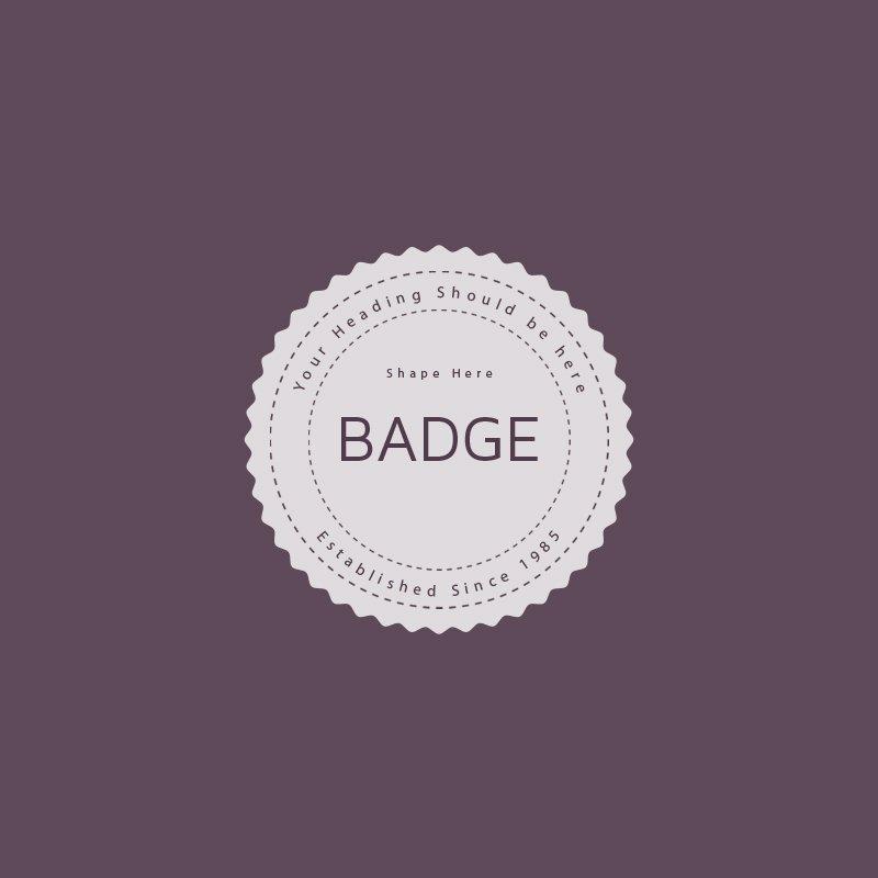 Retro Badge Free PSD Template Mockup Design