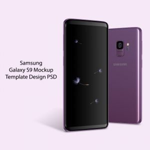 Samsung Galaxy S9 Mockup Template PSD Design Download