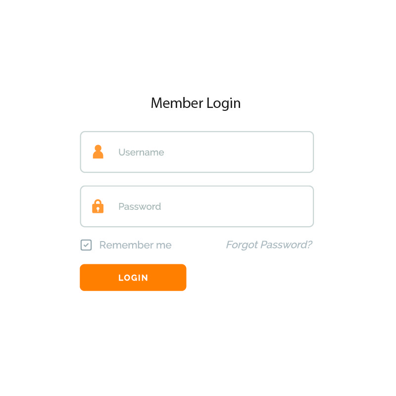Simple White Login Form UI Design for Website and Application