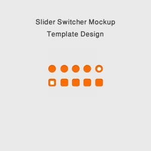 Slider Switcher Mockup PSD Template Design